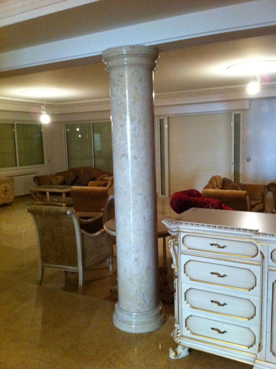 Мраморный колонны из мрамора Perlato Svevo-2