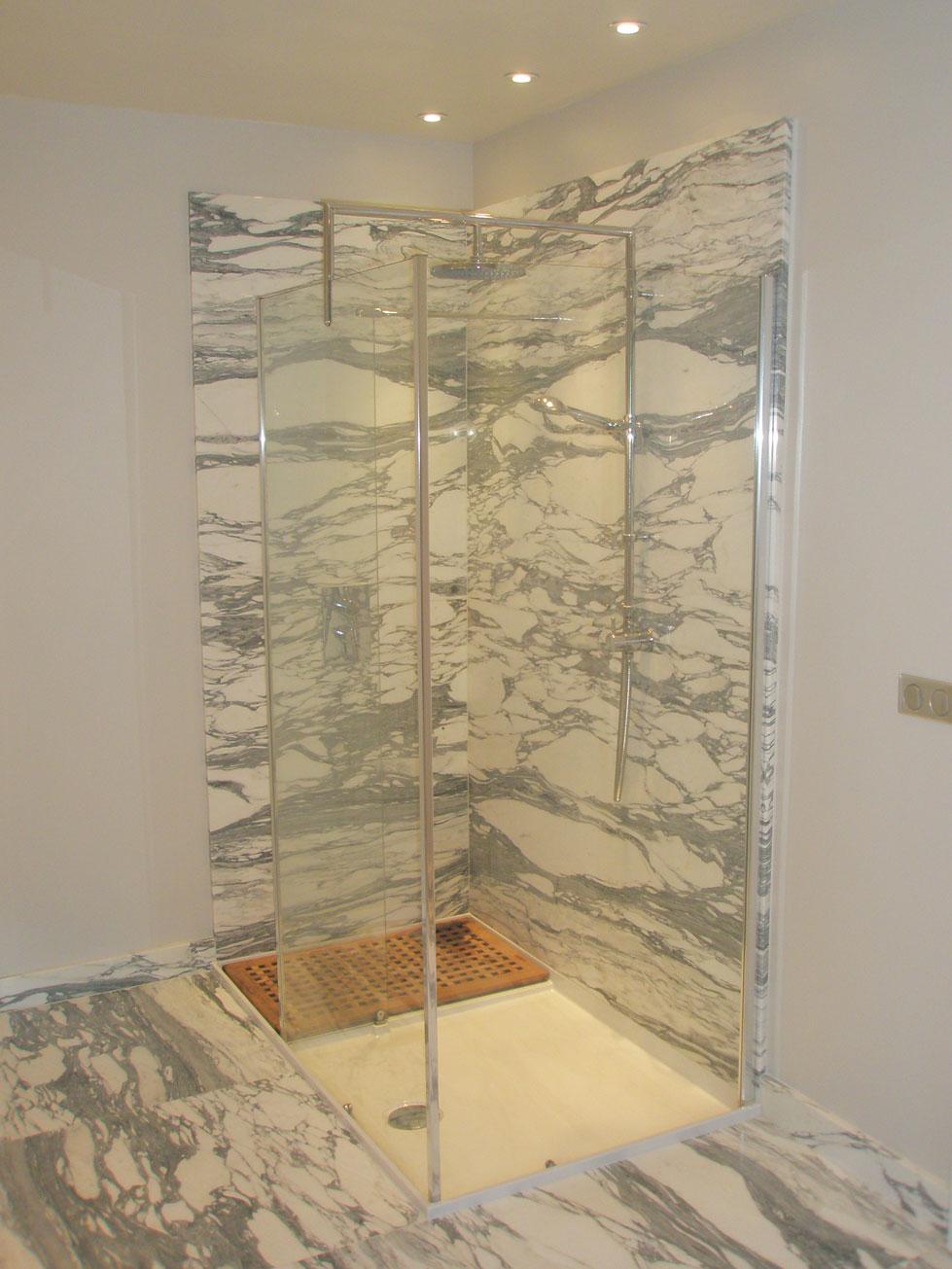 Arabescato Marble Bathroom1