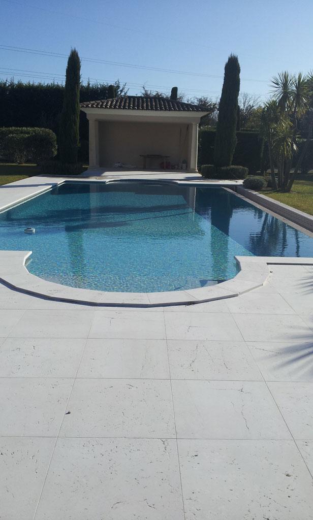 Botticino Marble Pool in Mougins1