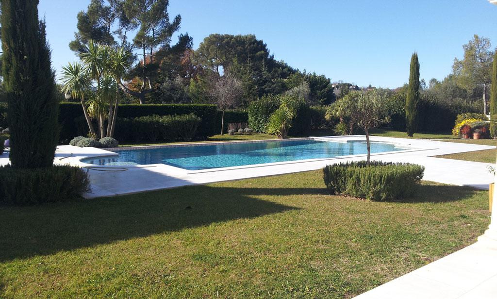Botticino Marble Pool in Mougins9