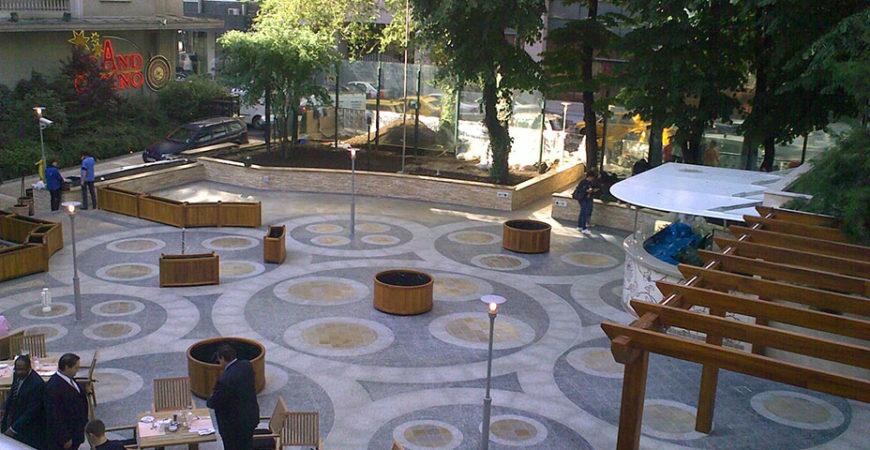 Carrelage en Granit pour la terrasse Hilton
