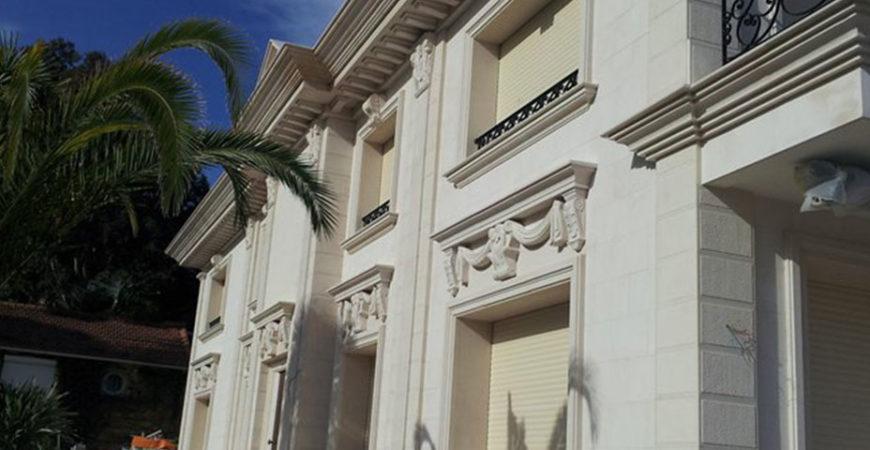 Facade in Moleanos Natural Stone