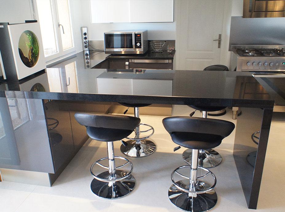 Kitchen Countertop in Black Granite
