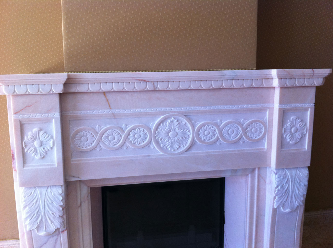 Marble Fireplace in Pink Portugal-10