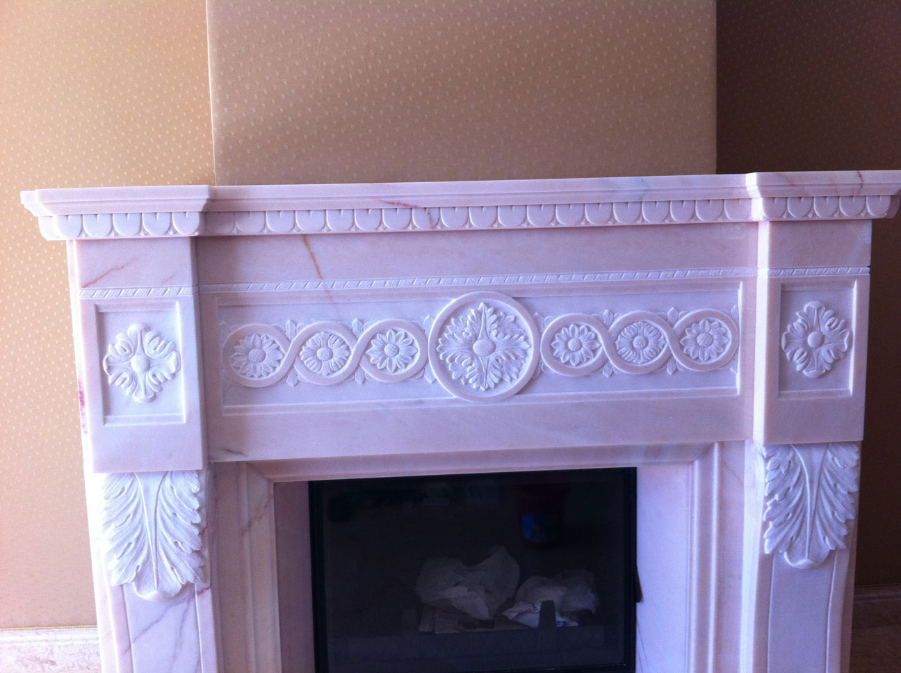 Marble Fireplace in Pink Portugal-6