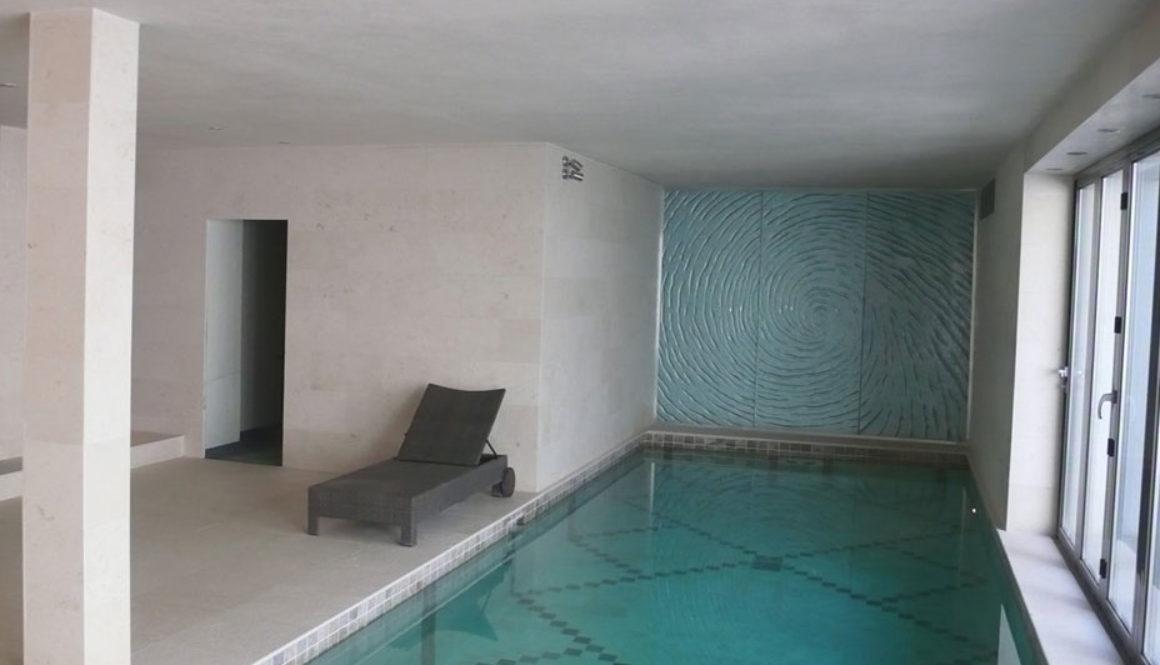 Swiming Pool in Botticino Marble