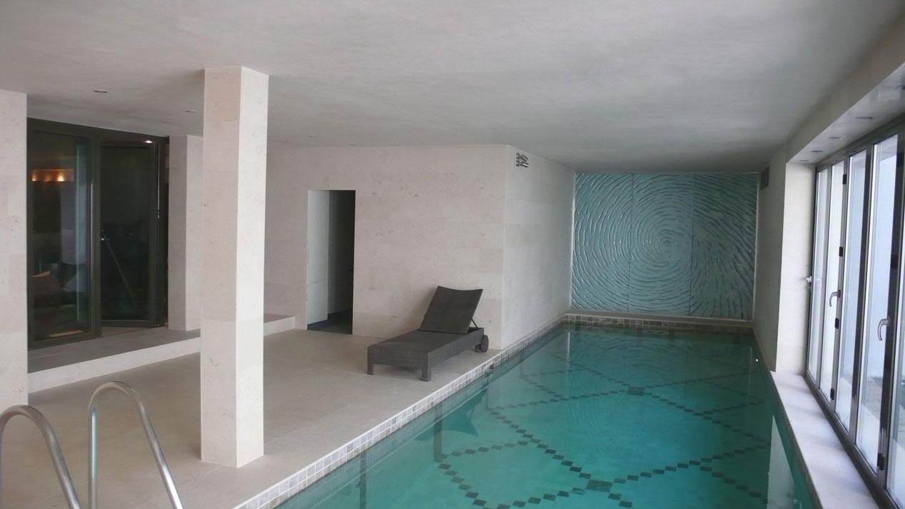Swiming Pool in Botticino Marble10