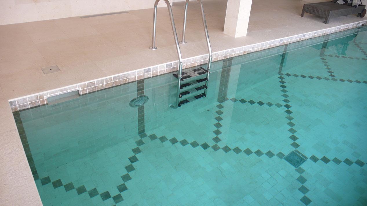 Swiming Pool in Botticino Marble6
