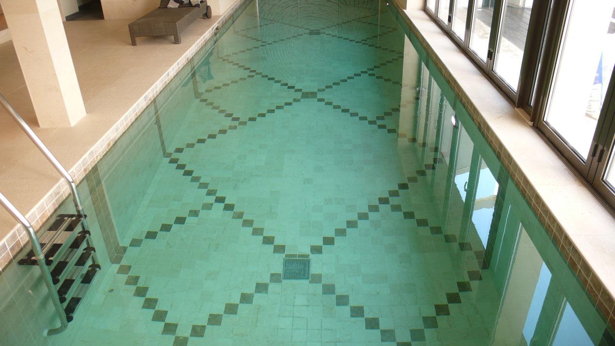 Swiming Pool in Botticino Marble7