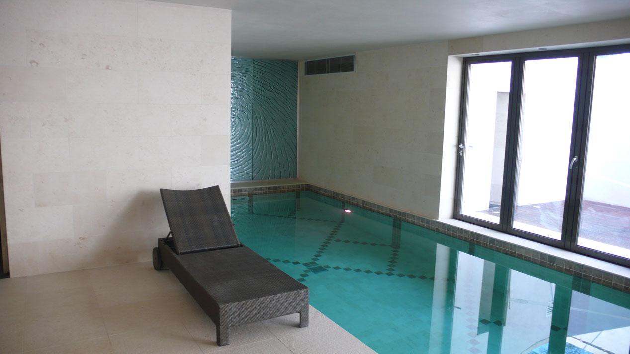 Swiming Pool in Botticino Marble9
