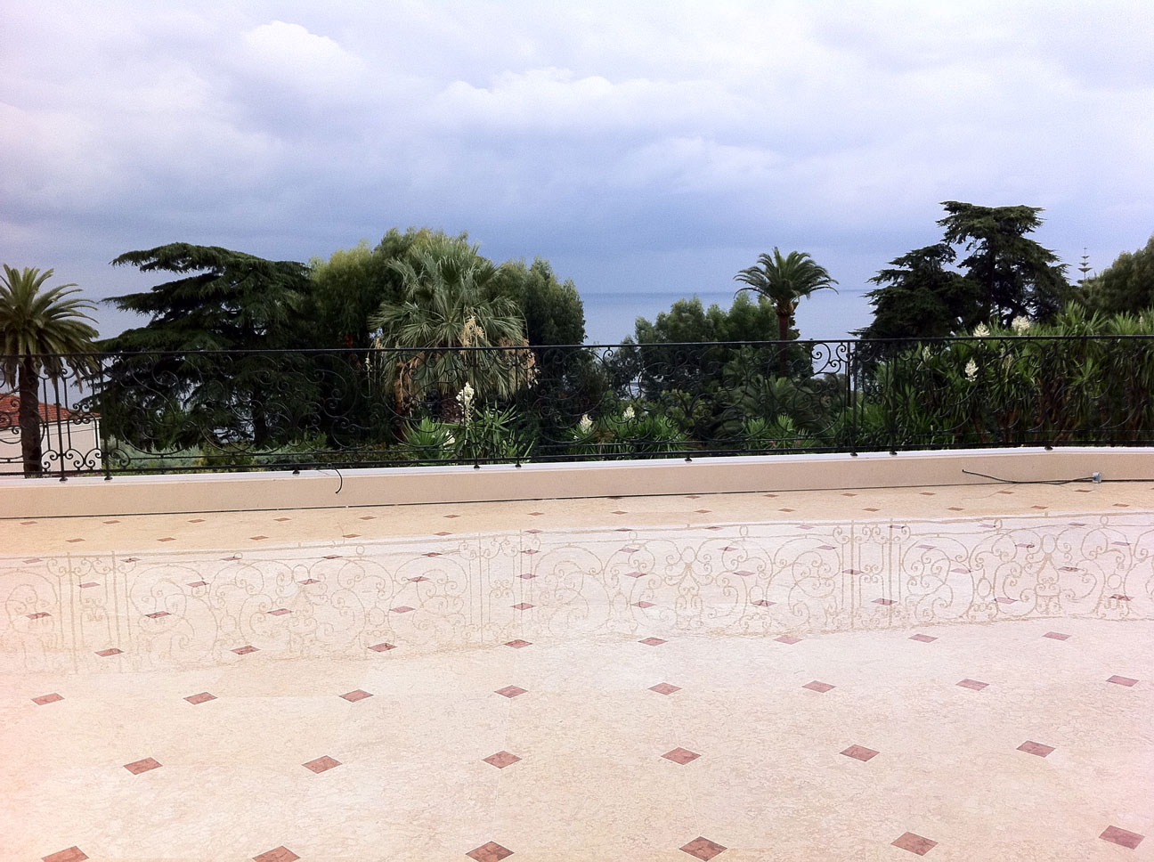 Terrace with Marble Floor-1