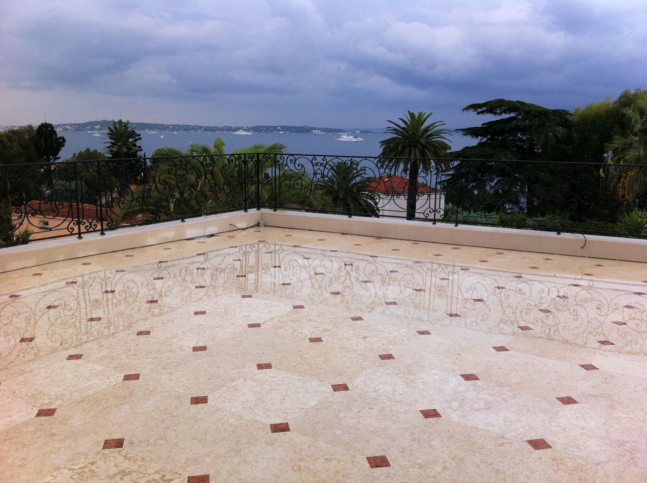 Terrace with Marble Floor-2